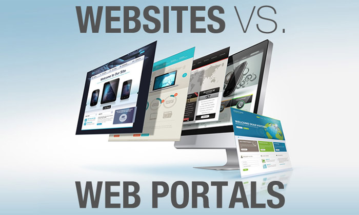 website and web portal